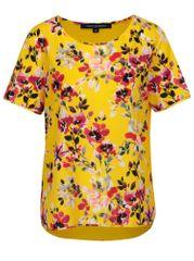 French Connection žluté květované volné tričko Linosa