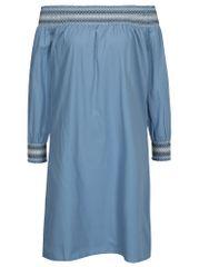 VILA modré šaty s odhalenými rameny Adiniana