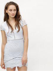 MISSGUIDED světle modré krajkové pouzdrové šaty