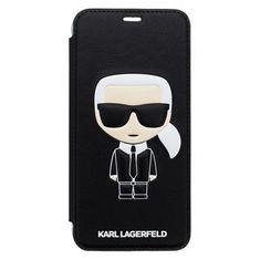 Karl Lagerfeld preklopna maska Ikonik Book Case Black za iPhone XS Max KLFLBI65IKPUBK