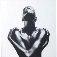 KARE Obraz na skle Athlete 120×120 cm
