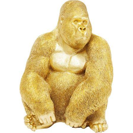 KARE Dekorativní figurka Gorilla Side XL - zlatá