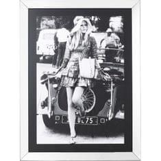 KARE Čiernobiely obraz Brigitte Bardot
