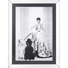 KARE Čiernobiely obraz Audrey Hepburn s pudlami