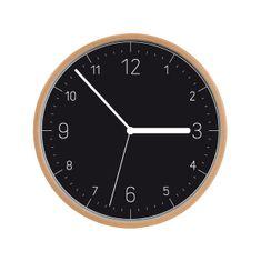 Tescoma zegar naścienny FANCY HOME, drewno, czarna tarcza