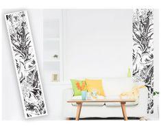 Dimex Dekoračné pásy - Čiernobiele kvety, 49 x 270 cm