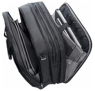Brašna na notebook a tablet Samsonite XBR Bailhandle 3C, Black, polstrování