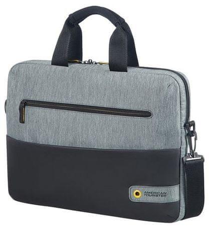 """American Tourister American Tourister City Drift Laptop Bag 13,3""""-14,1"""", černá/šedá 28G*09003"""