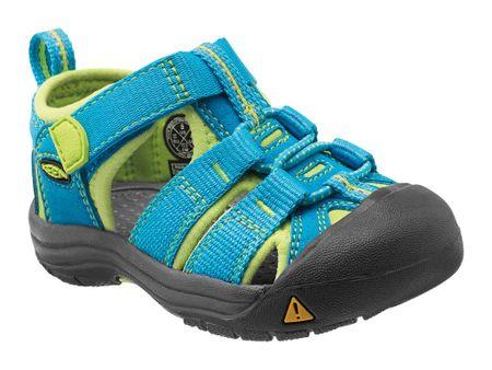 KEEN sandały dziecięce Newport H2 T-Hawaiian Blue/Green Glow US 4 (EU 19)