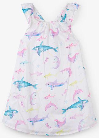 Hatley dívčí šaty s širokými ramínky 104 viacfarebná