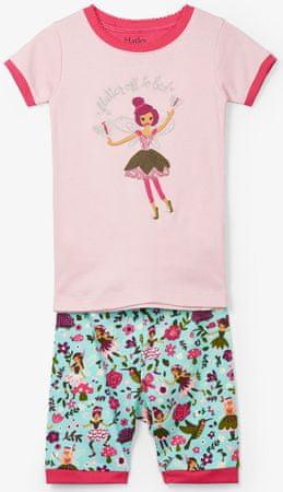Hatley lány nyári pizsama tündérrel 122 rózsaszín
