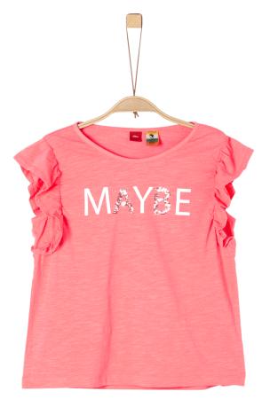 s.Oliver dívčí tričko S ružová