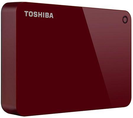 TOSHIBA twardy dysk Canvio Basics - 4TB, czerwony (HDTC940ER3CA)