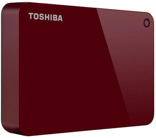 TOSHIBA Canvio Advance - 4TB, červená (HDTC940ER3CA)