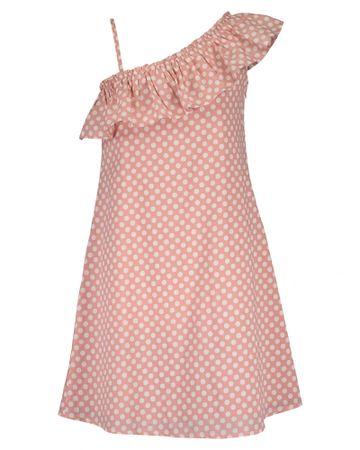 Blue Seven dívčí šaty s volánem 140 růžová
