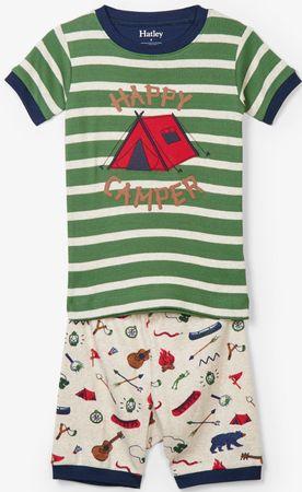 Hatley chlapecké letní pyžamo 86 zelená