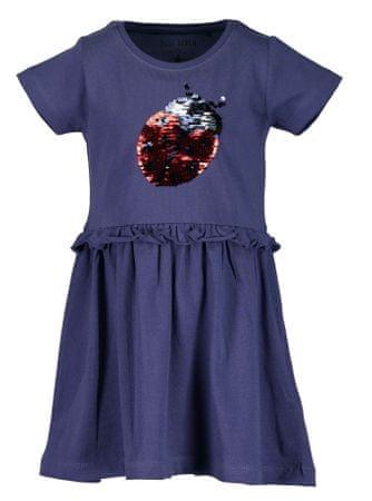 Blue Seven dívčí šaty s flitry 92 modrá