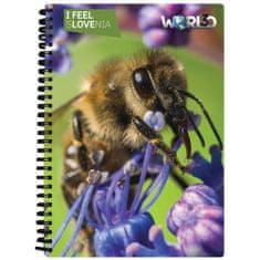 World 3D I Feel Slovenia notebook A5 80L – kranjska čebela