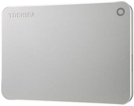 TOSHIBA dysk zewnętrzny Canvio Premium - 1TB, metaliczny srebrny (HDTW210ES3AA)