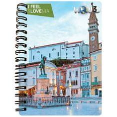 World 3D I Feel Slovenia notebook A6 50L – Piran, skripta