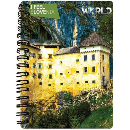 World 3D I Feel Slovenia notebook A6 50L – Predjamski grad, spirala