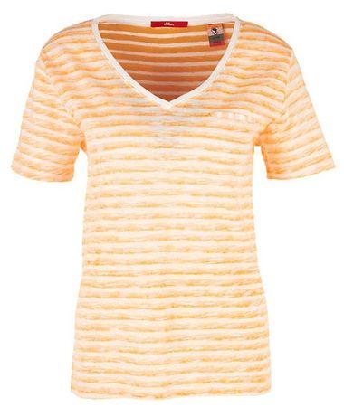 s.Oliver - női póló 36 sárga