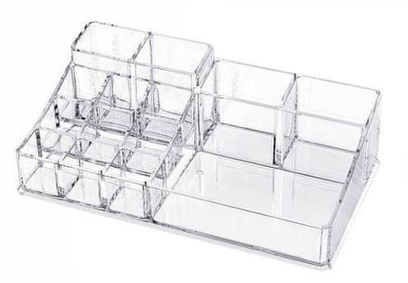 Compactor Szervező kozmetikumokra - 14 rekesz, átlátszó műanyag