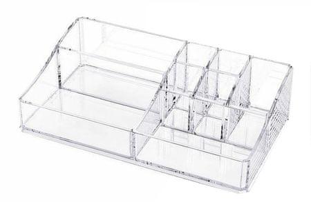 Compactor organizator za nakit in kozmetiko, 8 predelkov, prozorna plastika