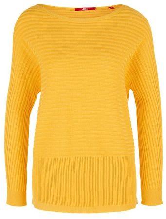s.Oliver női pulóver 40 sárga