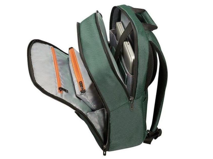 notebook táska Samsonite Network 3 LAPTOP backpack 15.6 Bottle Green CC8*04005 belső bélelt zseb