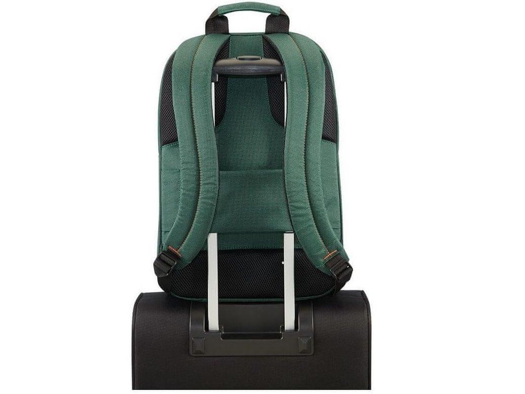 notebook táska Samsonite Network 3 LAPTOP backpack 15.6 Bottle Green CC8*04005 pánt kofferhez