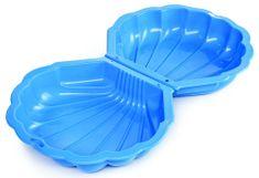 Alltoys Homokozó MAXI kagyló kék fedéllel