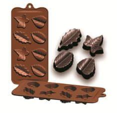 Ibili Formičky na čokoládu listy 10,5x21cm