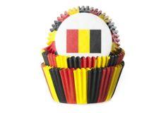 House of Marie Košíček na muffiny vlajka Belgie 50ks