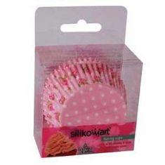 Silikomart Košíček na muffiny růže růžový 50ks