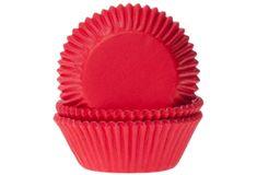 House of Marie Papírový košíček na muffiny červený 50ks