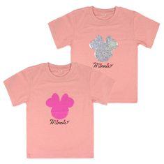Disney dívčí tričko Minnie s flitry