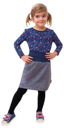 Unuo dívčí softshellová sukně s fleecem 98/104 šedá