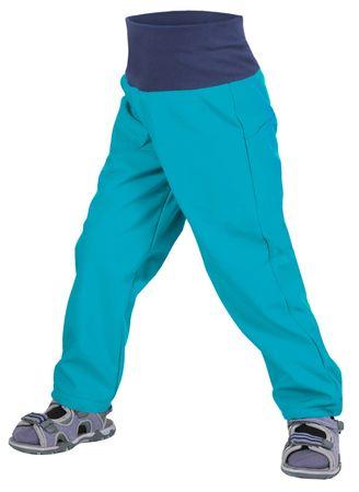 Unuo chłopięce spodnie slim softshell bez ocieplenia 86 - 92 niebieski