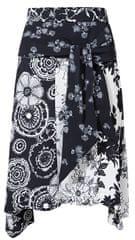 Desigual Dámská sukně Fal Paola Negro 19SWFW12 2000