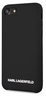 Karl Lagerfeld Silver Logo Silicone Case Black az iPhone 7/8 KLHCI8SLBKS számára