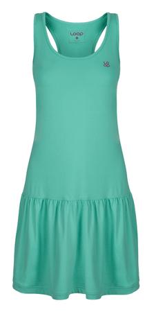 Loap ženska obleka, M, zelena/roza