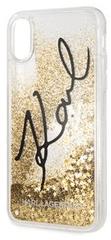 Karl Lagerfeld maska Signature TPU Case Glitter Star Gold za iPhone X KLHCPXTRKSIGGO