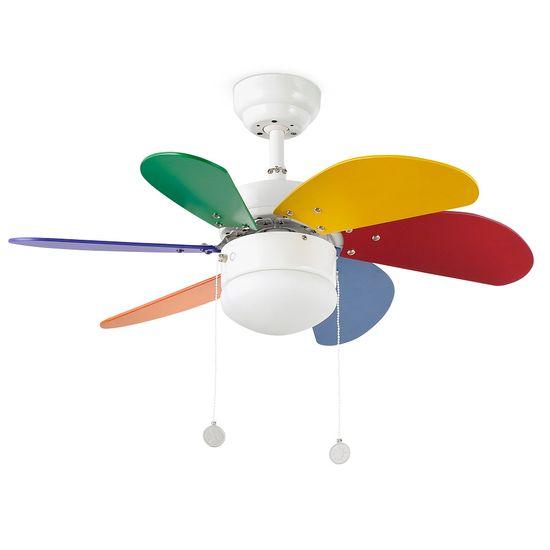 """FARO Barcelona PALAO 33179 31,8"""" barevný Reverzní stropní ventilátor"""