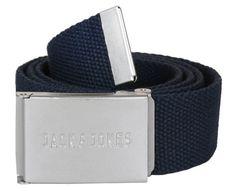Jack&Jones Pánský opasek Jacleon Woven Belt Navy Blazer