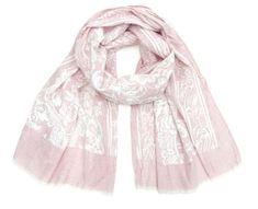 Art of Polo Damski bawełniany szalik - różowe kwiaty sz16221.1