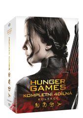 Hunger Games: Kompletní kolekce 1-4 (4DVD) - DVD
