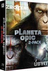 Kolekce Planeta opic: Úsvit planety opic + Zrození planety opic (2BD) - Blu-ray
