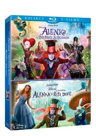 Kolekce Alenka v říši divů: Alenka v říši divů + Alenka v říši divů: Za zrcadlem (2B) - Blu-ray