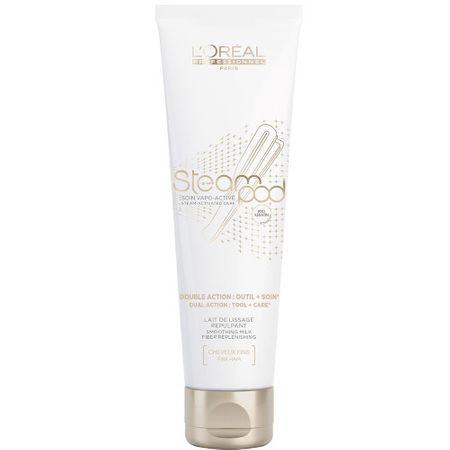 Loreal Professionnel Vyhlazující krém pro tepelnou úpravu vlasů Steampod (Smoothing Cream Fiber Restoring) 150 ml